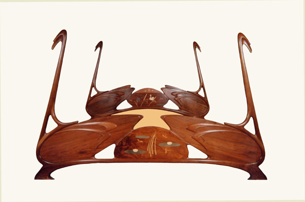 Swan BedArt Nouveau Furniture By William Doub. Art Nouveau Furniture. Home Design Ideas