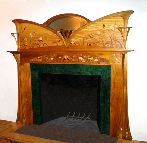 Butterfly Art Nouveau Fireplace